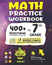 7th Grade Math Practice Workbook: 400+ Questions You Need to Kill in 7th Grade