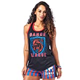 Zumba Breathable Jersey Workout Tops Fitness Dance Sexy Tank Tops for Women, Bold Black 0, S