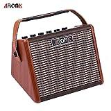 Kalaok AG-15A 15W Tragbarer Akustikgitarrenverstärker Amp BT Lautsprecher Eingebauter Akku mit Mikrofonschnittstelle
