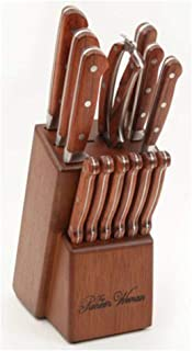 The Pioneer Woman Cowboy Rustic Forged 14-Piece Cutlery Set, Red Rosew