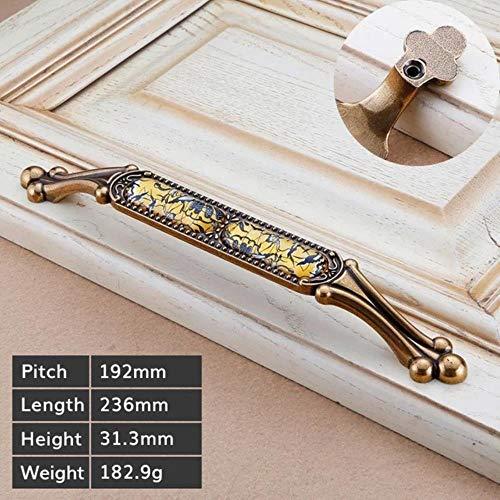 Luxe vintage meubelen Handvat ant brons Keukenkast Knoppen en handgrepen Garderobekast Deurklink Lade trekt, L