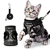 <span class='highlight'>Cat</span>Romance <span class='highlight'>Cat</span> <span class='highlight'>Harness</span> <span class='highlight'>Escape</span> <span class='highlight'>Proof</span>, Adjustable Walking Kitten Vest <span class='highlight'>Harness</span> and Lease with Reflective Strips, Step-in Breathable & Soft Puppy, Easy to Control for Extra Small <span class='highlight'>Cat</span>s (S, Black)