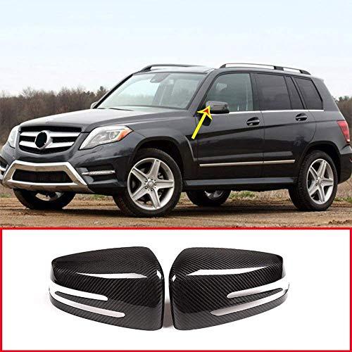 Außenspiegelspiegelkappe Kompatibel mit Benz W204 A W176 E W212 E W207 GLA X156 CLA W117 CLS W218 Seitliche Rückspiegeldeckelabdeckung Aufkleber Kohlefaser