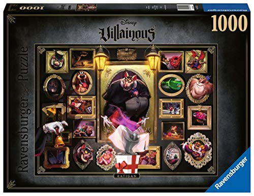 Ravensburger- Puzzle 1000 pièces-Ratigan (Collection Disney Villainous) Puzle Adulto, Color (4005556165216)