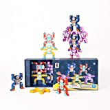 ROBUD Wooden Stacking Building Blocks, Board Balance Games Toys Gift for Kids & Adults & Families - Stacking Robot 16 Pieces