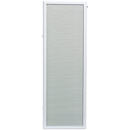 """22/"""" x 36/"""" Add On Blinds Enclosed Blinds White X Door Tilt Shade Protection UV"""