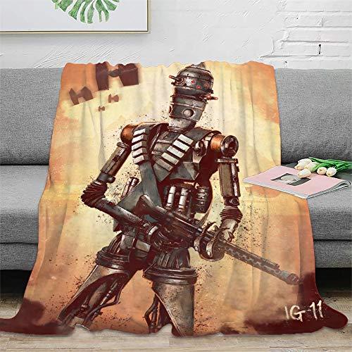 STTYE Manta de picnic de Star Wars The Mandalorian (54), se puede utilizar como sábana de cama, manta de viaje, colcha de siesta diaria, incluso cojín de sofá. 150 x 200 cm.