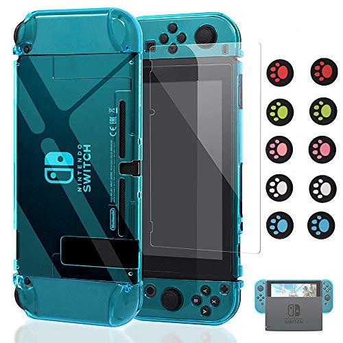 GoldNest Funda para Nintendo Switch Dockable [actualizada], Carcasa Protectora Nintendo Switch y Switch Joy-con Controlador con 1 Paquete de Protector de Pantalla de Vidrio Templado