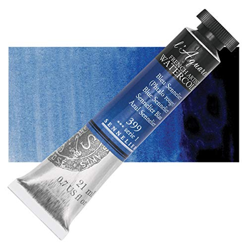 Sennelier L'Aquarelle French Watercolor, 21ml Tube, S1 Blue Sennelier