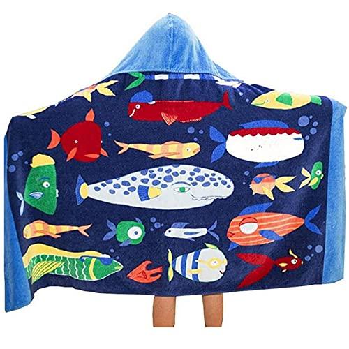 Toalla de baño de playa con capucha para niños y niños, gruesa capa suave