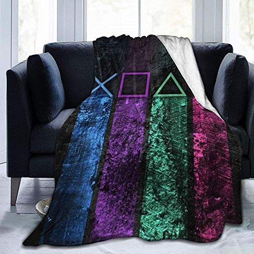 tjxu Los símbolos del botón de la Pendiente de la Manta de la Manta de la Franela Imprimieron 3D Mantas Calientes para el sofá 180 X 200 CM