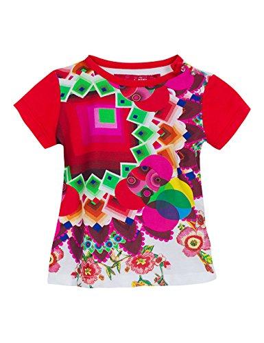 Desigual TS_OPALO T-Shirt, Multicolore (Blanco), FR Mois (Taille Fabricant: 12) Bébé Fille 0-24m