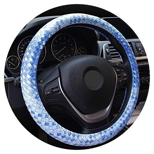 Nieuwe 3D Geweven Leer Auto Stuurwiel Cover 5 Kleur Anti-Slip Voor 38 Cm Auto Styling Stuuren-Wiel Car-Covers