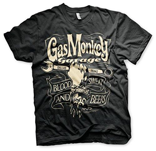 Officially Licensed Merchandise Gas Monkey Garage - Speed Wheels Hoodie, Negro, XX-Large