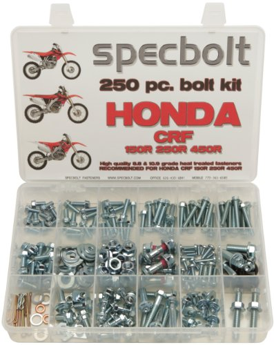 250pc Specbolt Fasteners Brand Bolt Kit fits: Honda CRF150 CRF250 CRF250 Maintenance & Restoration of MX Dirtbike OEM Spec Fasteners CRF 150 250 450