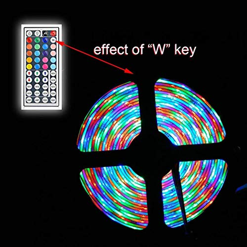WEIKI LED Strip Light LED Rope Lighting Color Changing Kit with 44-Keys IR Remote Controller 6