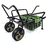 Bison Heavy Duty Two Wheel Fishing Wheelbarrow Trolley with Barrow Bag