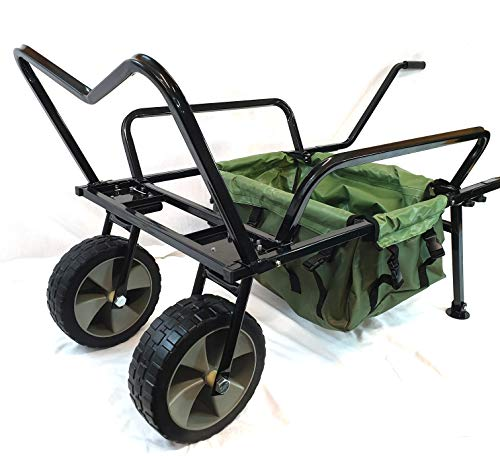 Photo of Bison Heavy Duty Two Wheel Fishing Barrow Trolley with Barrow Bag