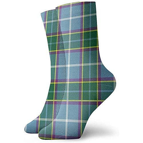Kevin-Shop Isle Man Laxey Manx District Tartan Abstract Classic Chaussettes Femmes Et Hommes Chaussettes Athlétiques