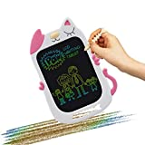 LCD Doodle Drawing Board for 5-6 Year Old Girls,Magnetic Electronic Erase Boards 2020 New Gifts for Age 3 Boys 8.5-Inch Writing Tablet Educational Notepad for 4 Years Toddler Pink