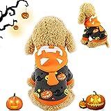 Costume d'halloween pour Animaux, Manteau à Capuche pour Chien, Chien de Compagnie Costume, Chien de Compagnie Halloween Costume Citrouille, pour Chat de Chien Halloween Habiller (Citrouille, XL)
