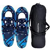 FLASHTEK 25' Snowshoes for Men and Women, Light Weight Aluminum Terrain Snowshoes (Blue NP)