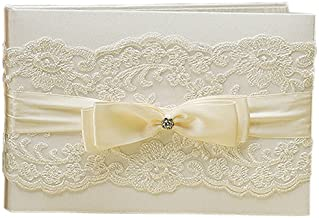 Beverly Clark French Lace Guest Book, Ivory