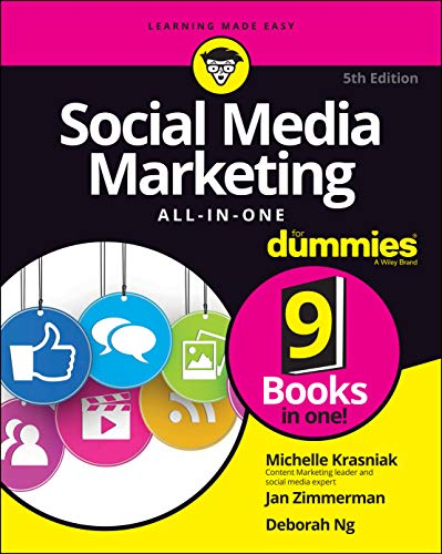 Social Media Marketing All-in-One For Dummies, 5th Edition Front Cover