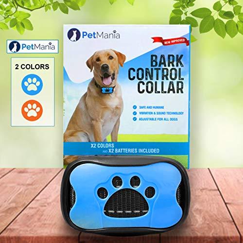 Dog Bark Collar with Vibration PetMania, No Bark Collar, Harmless and Humane, Training and Anti Bark...