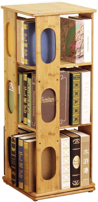 barato TLMYDD Estantería Vintage de bambú de Tres Capas, estantería estantería estantería giratoria, Sala de EEstrella y estantería de Oficina, Estante de exhibición, Soporte de exhibición, 95x37x37cm librero (Talla   A)  deportes calientes