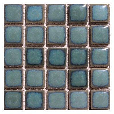 『廣美陶房 窯変 モザイク19ミリタイル N-206 ターコイズグリーン』の2枚目の画像