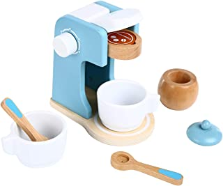 Spiekind Coffee Maker Set Playtend Play Kitchen Accessories - Wooden Toys Coffee Set Toys Imaginative Play for Toddlers - Birthday for 3 4 5 Years Old Boys and Girls