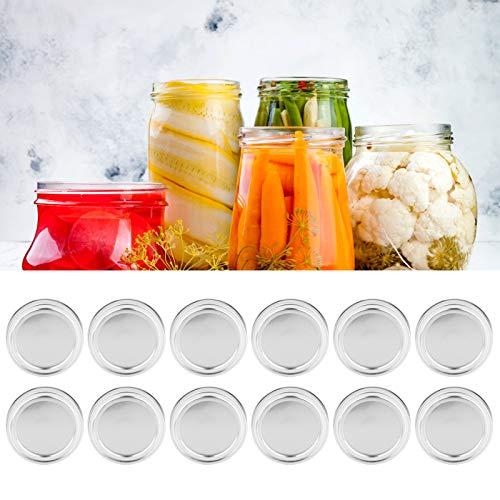 Socobeta Cubierta de sellado de tapa de tarro a prueba de fugas para miel (XH00177 plata)