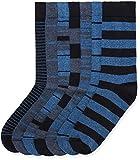 Marchio Amazon - find. 7 Pack Ankle Sock, Calze Uomo, Blu (Blue Mix Stripes), 39-43.5 EU, Label: 6-9.5 UK