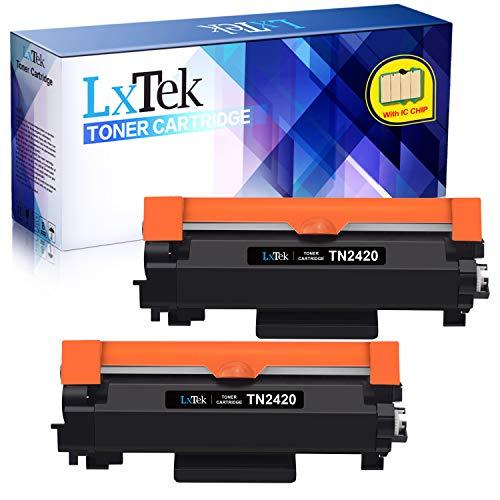 2 LxTek Compatibile per Brother TN2420 TN-2420 TN2410 TN-2410 Cartucce di Toner per Brother HL-L2310D HL-L2350DW MFC-L2710DW MFC-L2710DN DCP-L2530DW HL-L2370DN MFC-L2730DW MFC-L2750DW (Con Chip)