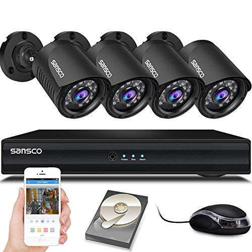 SANSCO Smart HD CCTV Security Camera System with 1080P Lite 4...