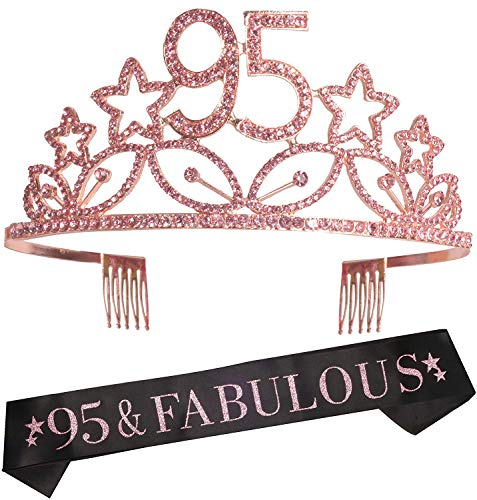 95 & Fabulous Sash and Tiara Set