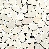 Ciottoli affettato a tinta unita bianco 5/7Sassi di fiume fiume ciottoli di pietra mosaico
