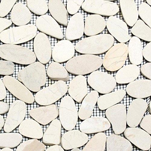 Piastrelle a mosaico, ghiaia di pietra, taglio bianco, per pavimenti, parete, bagno, doccia, cucina, cucina, cucina, rivestimento, vasca da bagno, rivestimento a mosaico