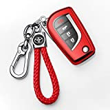Autophone for Toyota Key Fob Cover with Keychain Soft TPU 360 Degree Protection Key Case C...