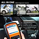 NEXPEAK OBD2 Scanner NX501 Enhanced OBD II Auto Code Reader Car Diagnostic Scan Tool Vehicle Check Engine Light Analyzer… 12 【Professional Vehicle Code Reader】 NEXPEAK NX501 is an enhanced auto scanner that you can NOT ONLY check all engine related fault codes, find out what caused the check engine light comes on, turn-off Malfunction Indicator Lamp (MIL), locate bad O2 sensor, but also can monitor car battery health status, remind you when the battery need to be replaced. It's a perfect scan tool helps you to determine if your car need to be repaired and avoid blind maintenance, saves your time and money. 【Wide Array of Compatibility】 Accurately read and erase error codes on all OBD2 protocol vehicles with a 16 PIN interface (KWP2000, ISO9141, J1850 VPW, J1850 PWM and CAN). The NEXPEAK NX501 is compatible with most US vehicles that are model year 1996 or later – including sedans, SUVs, light trucks, and 12V diesels. This is a plug-and-play engine diagnostic code reader (both generic and manufacturer specific codes) – no extra batteries or apps required. 【NOT ONLY Full OBD2 Function】 All 10 modes OBD2 diagnostic function including: read and erase fault codes, retrieve I/M readiness and freeze frame data. Unique graphical forms to display live sensor data, Auto VIN acquisition, O2 Sensor and EVAP Test (Mode 8), Advanced On-board Monitoring (Mode 6). This auto analyzer can not only reveal what error codes your car is producing, but also monitor the battery voltage at all time during OBD car diagnostic, reminds you when having an aging battery