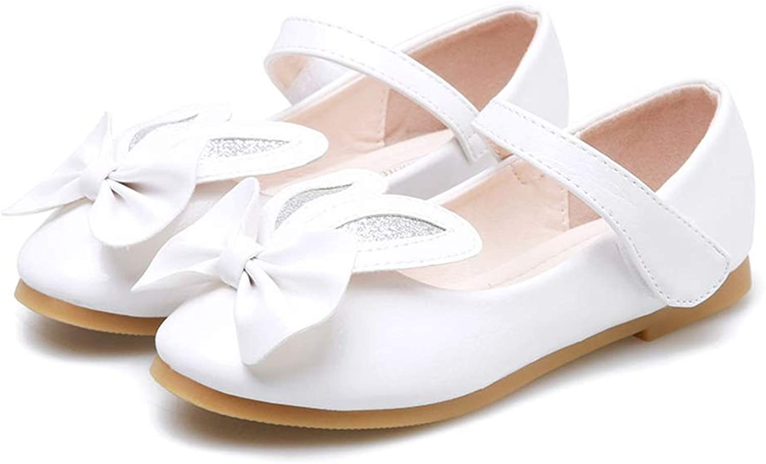 FOXMY Girls Adorable Bowknot Rabbit's Ears Ballet Flat Comfort Soft Breathable SlipOn Mary Jane shoes