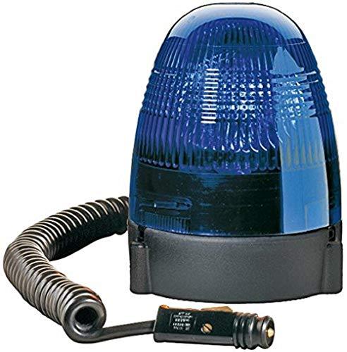 HELLA 2RL 007 337-121 Rundumkennleuchte - KL Rotafix - Halogen - H1 - 12V - Lichtscheibenfarbe: blau - Magnetbefestigung - 2-polig