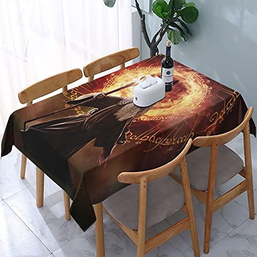 Nappe rectangulaire Gandalf Le Seigneur des Anneaux - Sans plis - Lavable - Pour cuisine, salle à manger, pique-nique, barbecue - 137,2 x 182,9 cm