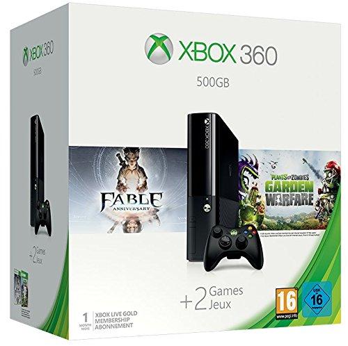 Console Xbox 360 500 GB + Fable Anniversary + Plants Vs. Zombie: Garden Warfare [Importación Francesa]