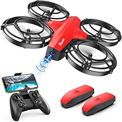 Potensic Mini Drone With Camera For Kids, FPV 2.4G WiFi, Upgraded Propeller Guard, 3D Flip, Combat Mode, Induction Of Gravity, Altitude Hold, Headless Mode, One Key Take-Off/Landing, Toy Gift, Red