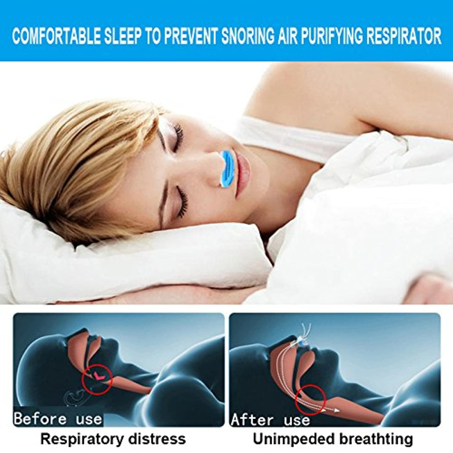 ウォルターカニンガム完璧な無駄なNOTE ドロップシッピング空気緩和いびき鼻いびき停止呼吸装置ガード睡眠装置アンチいびきシリコーン生成