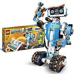 Combine LEGO building with Enhanced technology with this Build, Code and Play Toy Build 5-in-1 multi-functional robots and control them with easy-to-use coding blocks on your tablet Includes a LEGO Move Hub with Bluetooth connectivity, interactive mo...