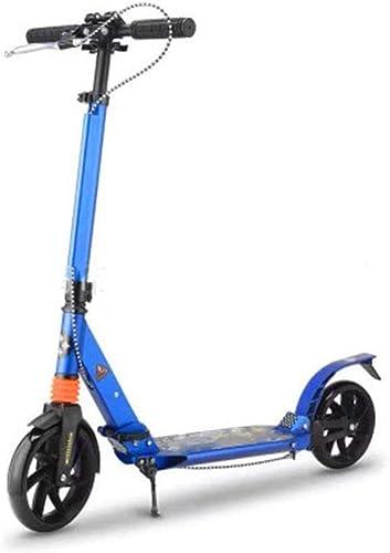 el precio más bajo SAN_Q Scooter Adulto Adulto Adulto Todo De Aluminio Freno De Mano Doble Amortiguador De Dos Ruedas Scooter Plegable  Disfruta de un 50% de descuento.