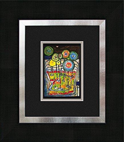 artissimo, Kunstdruck gerahmt, 40x45cm, AG3084, Friedensreich Hundertwasser: Park, Bild, Wandbild, Poster, Wanddekoration